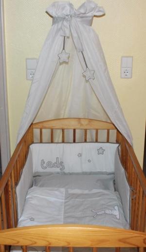 belily baby bettset teddy teds im mibaby produkttest praktische babybett ausstattung im. Black Bedroom Furniture Sets. Home Design Ideas