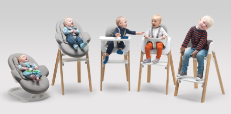 neuer innovativer kinderstuhl von stokke der steps mibaby magazin ratgeber testberichte. Black Bedroom Furniture Sets. Home Design Ideas