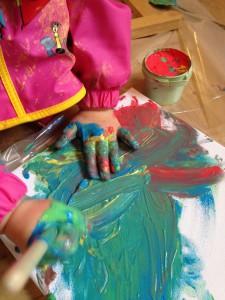 Spaß mit Fingerfarben