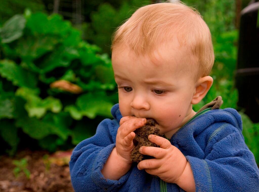 Baby isst Dreck Matsch Schmutz_XXL
