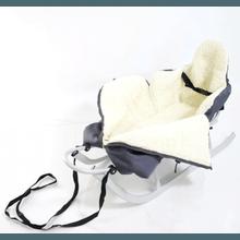 ADBOR | Kinderschlitten mit Rückenlehne, Schieber und Fußsack