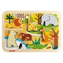Janod | Holzpuzzle Zootiere
