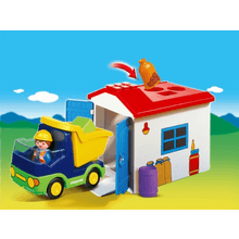 Playmobil 1-2-3 | LKW mit Sortiergarage