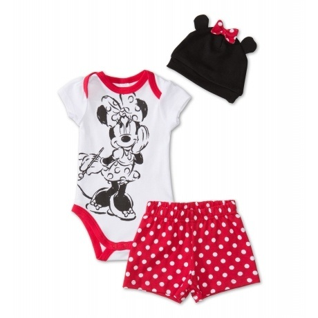 Minnie Mouse Baby-Set aus Bio-Baumwolle