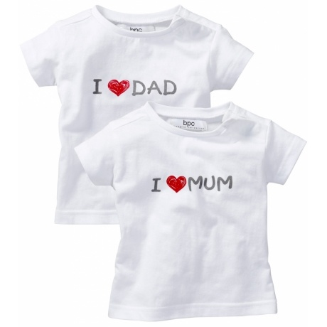 "T-Shirt ""I Love Mum/Dad"""