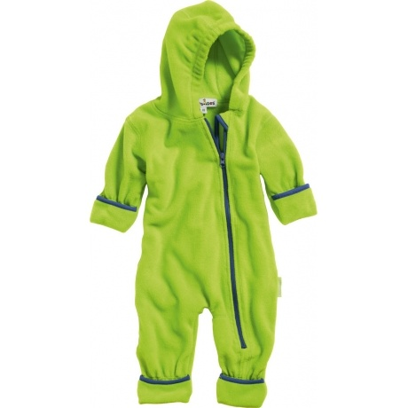Fleece Overall mit Kapuze