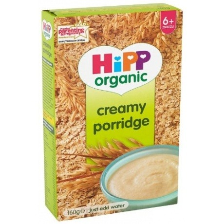 "Organic Stage 1"" From 6 Months"" Creamy Porridge 160 g (Pack of 4)"