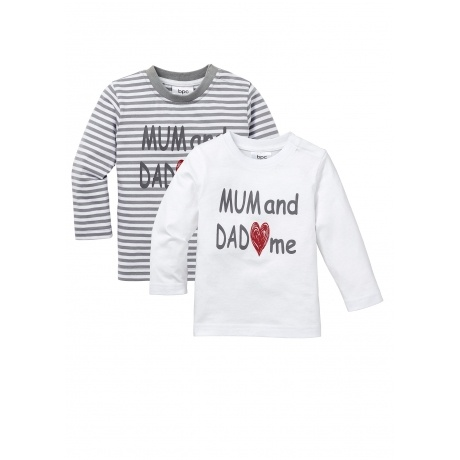 Mum and Dad love me - Langarmshirt (2er-Pack)