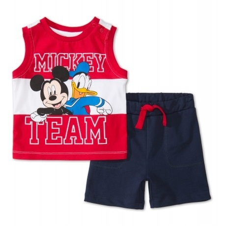 Mickey Mouse Baby-Top und Shorts