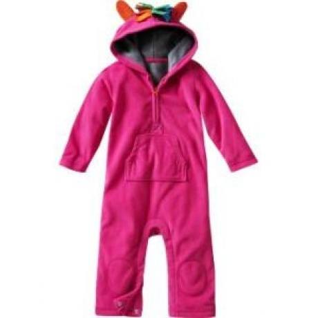 Fleece Playsuit Pink Pony