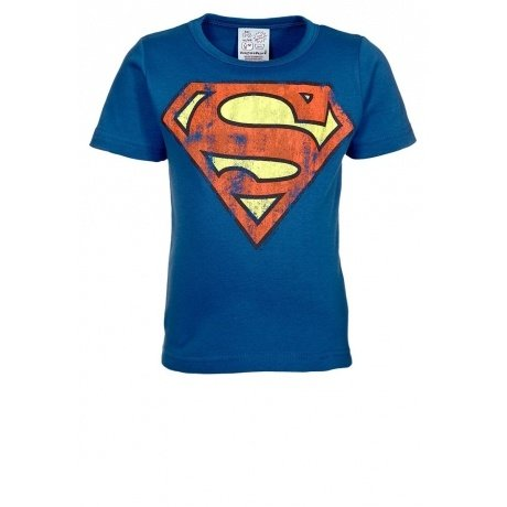 Superman Kinder-Shirt blau