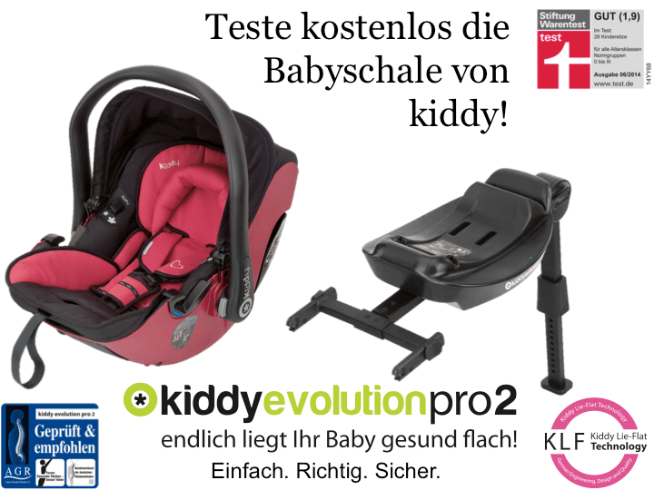 teste kostenlos die babyschale kiddy evolution pro 2. Black Bedroom Furniture Sets. Home Design Ideas